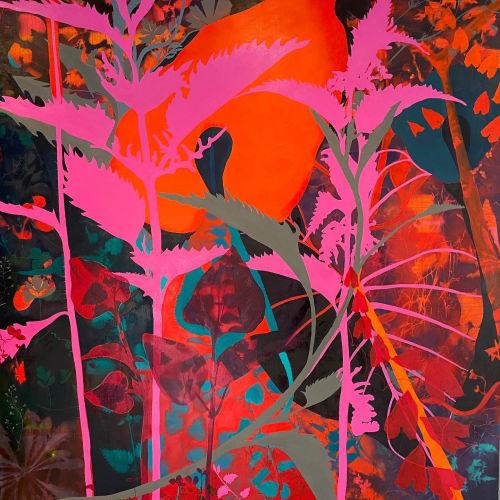 Paintings by NICK ASTON ART - BOTANIC WEED FLORA
