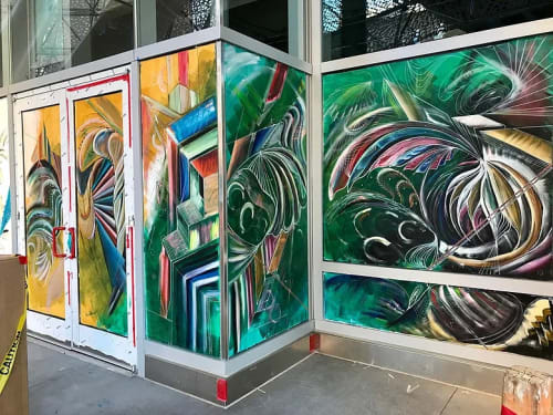 Murals by Max Ehrman (Eon75) seen at Salesforce HQ, San Francisco - SalesForce Mural