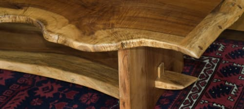 Tables by Sage Studios seen at Private Residence, Branford - Live edge sculptural table