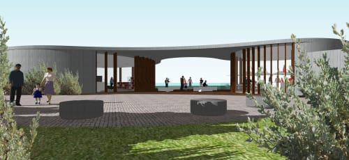 Architecture by MIKE EDWARDS ARCHITECTURE seen at Cape Peron, Francois Peron National Park - Cape Peron WWII Coastal Defence Museum & Cafe