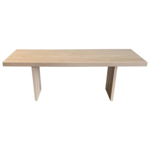 Tables by Foundrywood by Mats Christeen seen at Queens, Queens - Mats Christeen