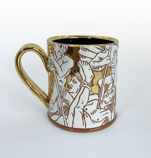 Cups by Homeless Astronaut seen at Private Residence, Athens - Gold Damned Cup
