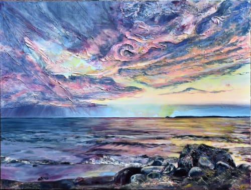 Paintings by Celina Melo seen at Private Residence, Toronto - Storm Draws Near