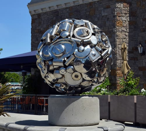 Public Sculptures by Donald Gialanella seen at Main Street, Napa - Napa Orb