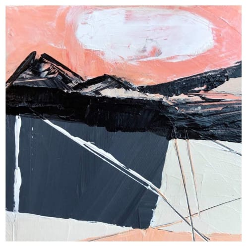 Paintings by Melanie Biehle seen at Cura Co, Seattle - Bold Abstract Painting Installation