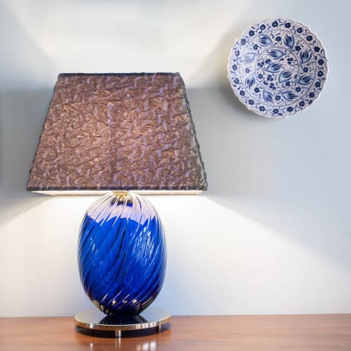 Lamps by Simone Cenedese Glass seen at Murano, Venice - Blue Lamp