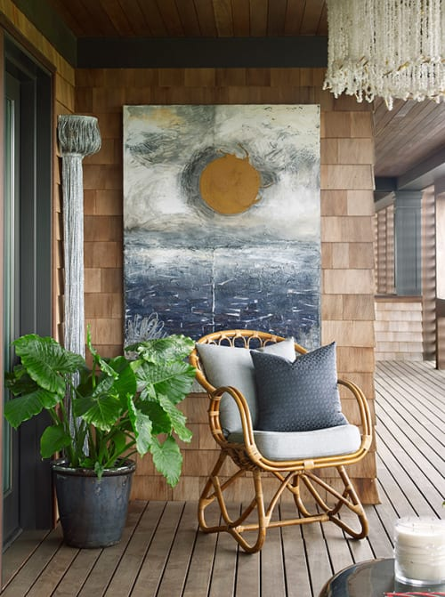Paintings by Kate Kova seen at Long Island - Moon and Sun