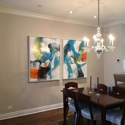 Paintings by Lisa Ridgers Fine Art at Private Residence, Chicago - Diptych Painting