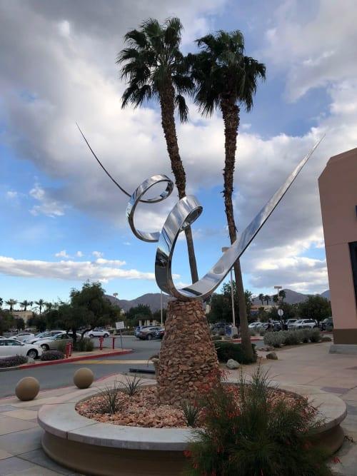 Public Sculptures by Marko Kratohvil seen at Desert Crossing Shopping Center, Palm Desert - Desert Wind