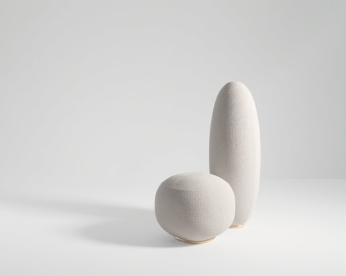 Tableware by SECOLO seen at Creator's Studio, Milan - Balancing Rock Armchair