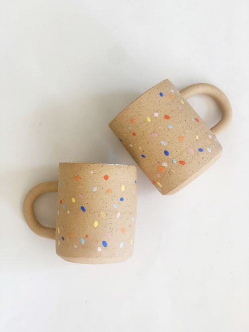 Cups by OBJECT-MATTER / O-M ceramic seen at Los Angeles, Los Angeles - Sprinkles on Speckles Mug