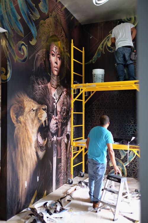 Murals by Amy Rader seen at Empire Sports Bar & Grill, Atlanta - Empire Sports Bar