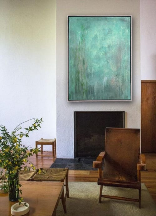 Paintings by El Lovaas seen at Private Residence, New York - Emerald Luster