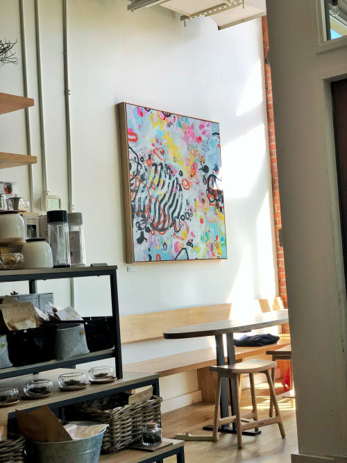 Paintings by Nino Yuniardi seen at Miro Tea, Seattle - Strength