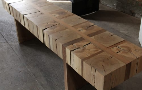 Benches & Ottomans by Andre Joyau seen at Brooklyn - Private Residence, Brooklyn - Endgrain Bench