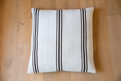 Pillows by Wayfarer seen at Shop on the Mesa, Yucca Valley - Vintage Hemp Floor Cushions