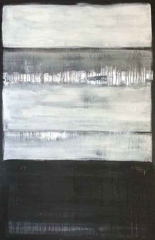Paintings by Linnea Heide contemporary fine art seen at Private Residence, Vancouver - 'ETHOS' original abstract painting by Linnea Heide