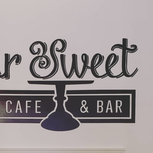 Murals by Nicole Gomez seen at Sugar Sweet Dessert Cafe, Ashland - Mural (lettering)