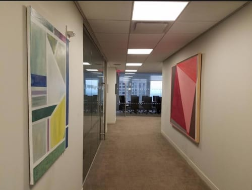 "Paintings by Benna Holden seen at Chaffetz Lindsey, New York - ""Linear Painting 3"""