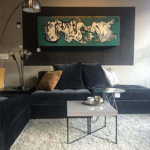 Paintings by Elliott C Nathan seen at Zozi's Loft, San Francisco - Abstract Painting