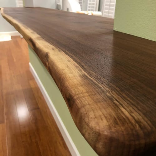 Tables by Modern Wood Style seen at Private Residence, Foster City - Black Walnut Counter Tops