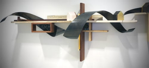 Sculptures by Craig Robb seen at Otten Johnson Robinson Neff + Ragonetti PC, Denver - echoes in the distance