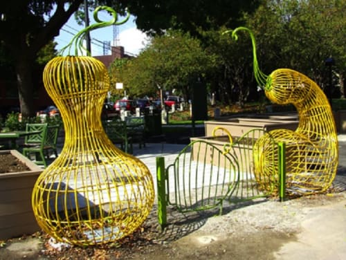 Public Sculptures by Roberley Bell seen at Cambridge, Cambridge - Gate for Community Garden