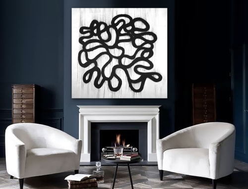 Paintings by Linnea Heide contemporary fine art seen at Asheville, Asheville - 'ENiGMA' original abstract painting by Linnea Heide