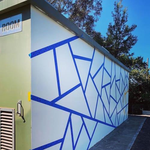 Murals by Blak Douglas seen at West Ryde, West Ryde - Collide-us-cope