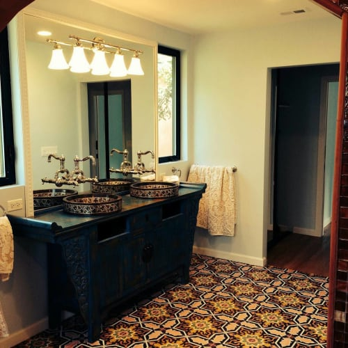 Tiles by Avente Tile seen at Private Residence, La Crescenta-Montrose - Melilla Cement Tile