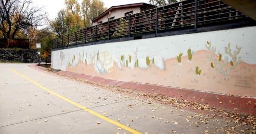 Street Murals by Katherine Rutter seen at Bear Creek Park, Boulder - Arts Martin Acres Bike Trail Mural