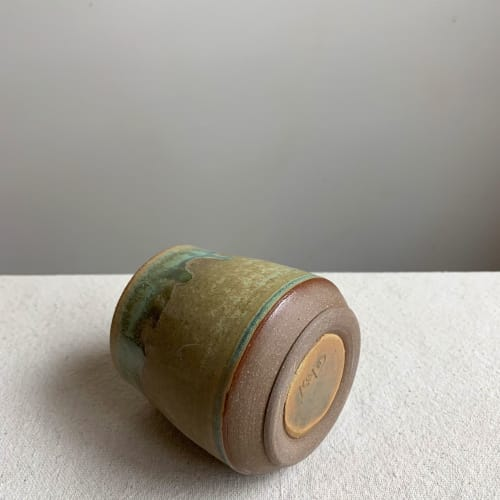 Cup in Lichen | Cups by Keyes Pottery