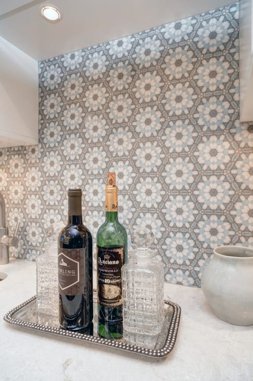 Tiles by StoneImpressions seen at Private Residence, Michigan - Alston Aliso Hexagon Tile