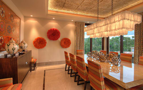 Chandeliers by Ron Dier Design seen at Villa Manzu, Papagayo, Costa Rica, Liberia - Selenite 3 Tier Chandelier