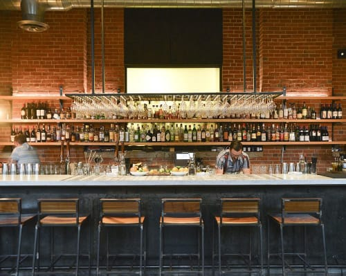 Communal Table Restaurant Lighting   Pendants by Southern Lights Electric   Rolf and Daughters in Nashville