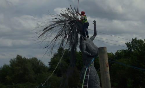 Public Sculptures by William Jordan seen at The Bridge, Dartford - The Mermaid
