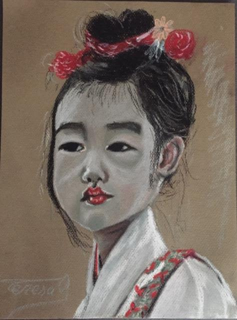 Paintings by TERESA GOMEZ seen at Private Residence, Madrid - chinese children