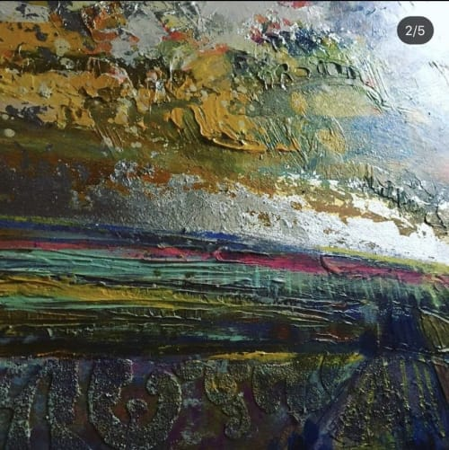 Paintings by BLYTHE SCOTT seen at Quebec City, Quebec City - 'Head in the Clouds'