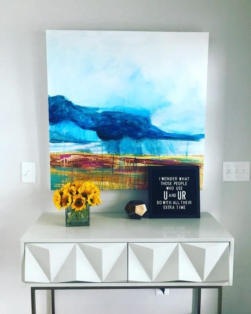 Paintings by Emily Williams-Wheeler seen at Private Residence, Bismarck - Prairie Deluge