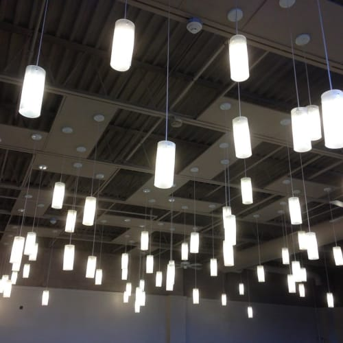 Pendants by CP Lighting seen at Grace and Peace Community Church, Philadelphia - Popsicle Pendants