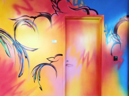 Murals by Sofia Maldonado seen at PricewaterhouseCoopers LLP, New York - PricewaterhouseCoopers Mural