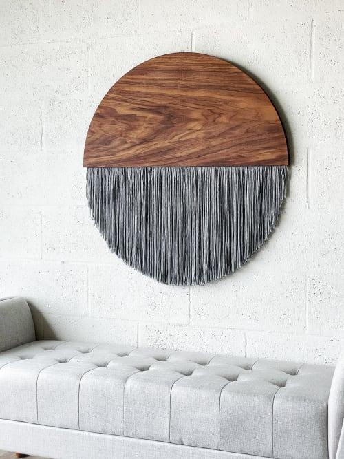 "Macrame Wall Hanging by Vita Boheme Studio seen at Private Residence, Palm City - ""Callisto"" Moon"