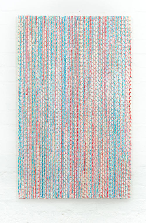Wall Hangings by Ray G Brown seen at Private Residence, London - Toothpaste Tapestry #2