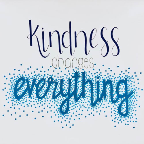 Murals by Two Brushes seen at Head O'Meadow Elementary School, Newtown - Kindness Changes Everything