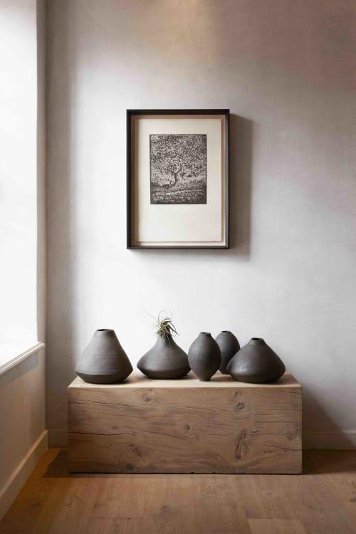 Vases & Vessels by Juliet Eidelman Ceramics seen at Franschhoek, Franschhoek - Black ceramic vessels