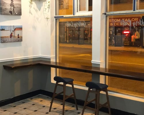 Furniture by Chicago Forestry seen at Gallery Cafe, Chicago - Live Edge Ash Countertop
