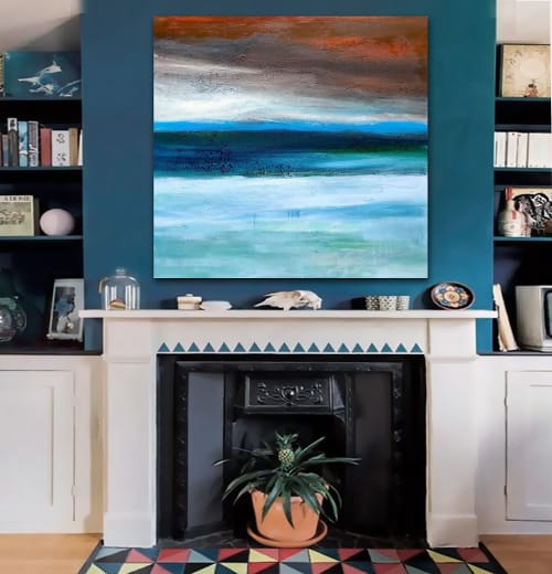 Paintings by Linnea Heide contemporary fine art seen at Private Residence, Chicago - 'OAXACA' original abstract painting by Linnea Heide