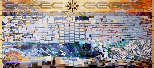 Murals by Jude Pittman seen at Sanchez Art Center, Pacifica - Sanchez Art Center Mural