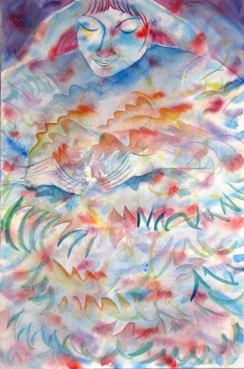 Paintings by Janet Morgan seen at Prema Soma Healing Arts, Brooklyn - The Healer