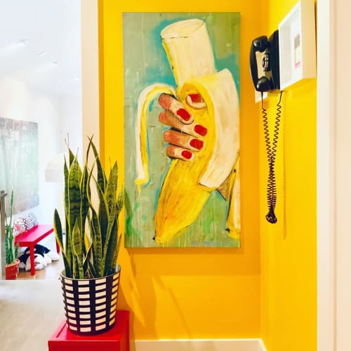 Paintings by Liz Haywood seen at Private Residence, Johns Creek - The Banana